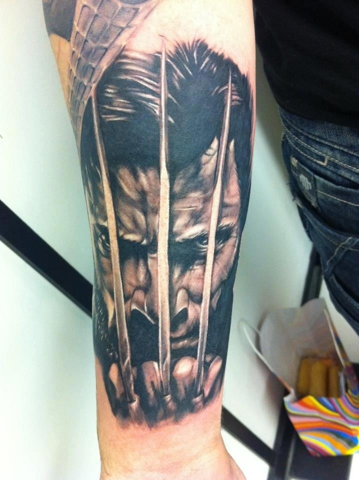 Wolverine Movie Tattoo On Arm of 1 by Cory