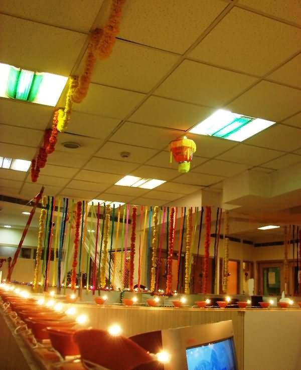 11 Beautiful Diwali Decoration Ideas For Office of 5 by Malik