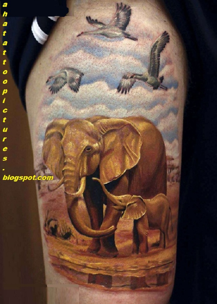 14 Incredible Wildlife Tattoo Images And Designs of 7 by Kristopher