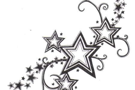 shooting stars tattoo designs sample