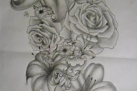 amazing flowers sleeve tattoo design ideas