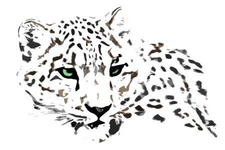 snow leopard tattoo design