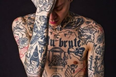 black ink full y tattoo for men