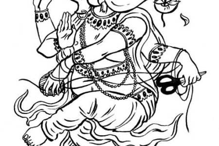 outline lord ganesha tattoo design by artemisiasynchroma
