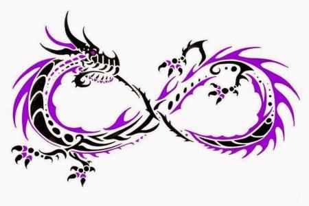 tribal dragon infinity tattoo design