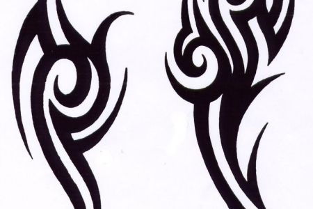 very nice tribal tattoo design