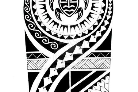 attractive maori tattoo design