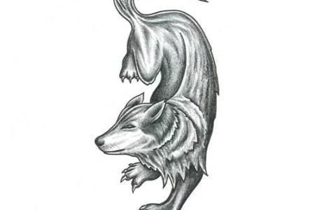 prowl wolf tattoo design