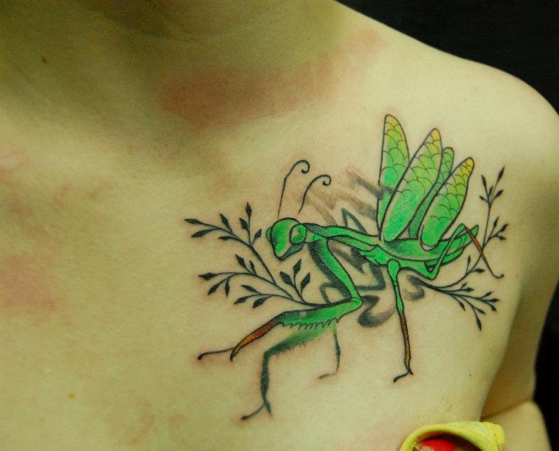 50+ Best Grasshopper Tattoos Design And Ideas of 2 by Bethany