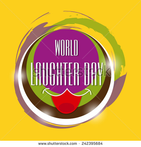World Laughter Day Illustration Card of 1 by Shawn