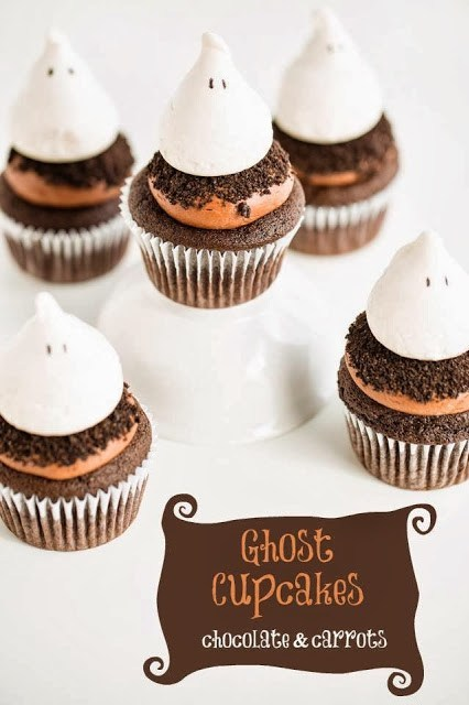 Ghost Cupcakes | Chocolate & Carrots