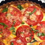 Tomato Pie with Cheese & Pesto