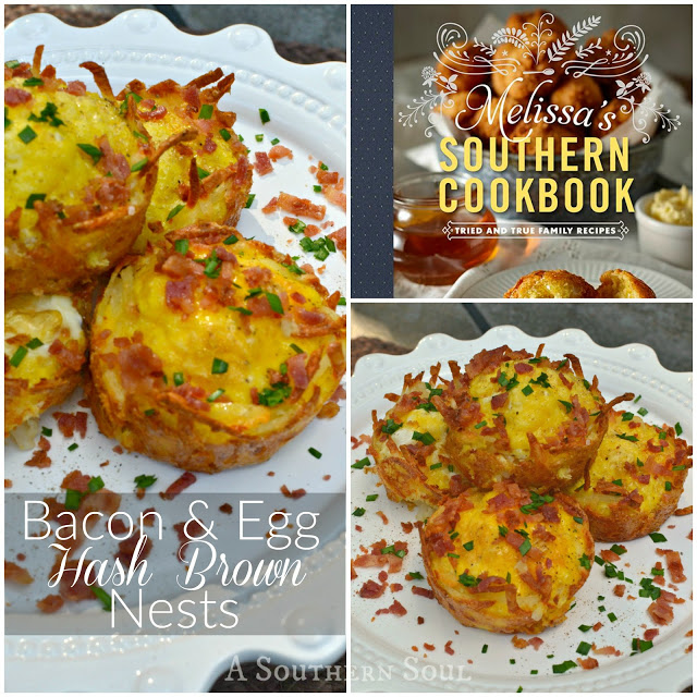 A Southern Soul | Bacon & Egg Hash Brown Nests