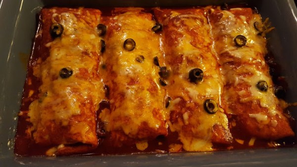 Oven Baked Burrito 'Chiladas from Julia's Simply Southern