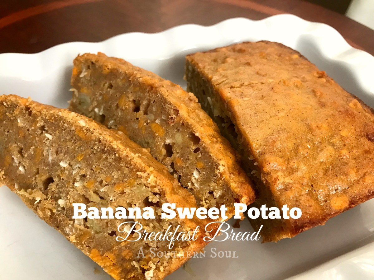 Banana Sweet Potato Breakfast Bread