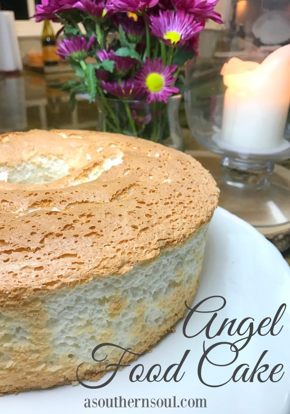 angel food cake text