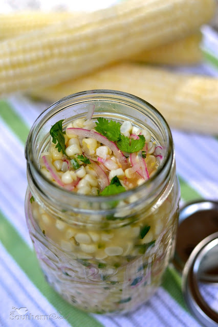pickled corn and onions