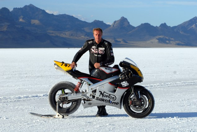 BUB: Norton Racing NRV588 Hits 173 MPH at the Bonneville Salt Flats During Bub Week Norton NRV588 Bonneville 635x424