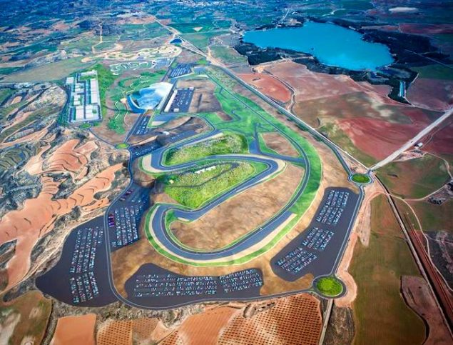 Hungarian GP Officially Cancelled    MotoGP Adds 4th Spanish GP to 2010 Schedule Motorland Aragon Spanish MotoGP track 635x483