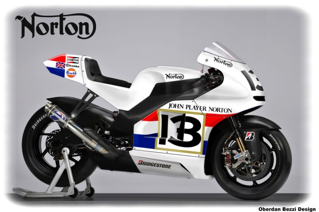 Norton MotoGP Racer Imagined by Oberdan Bezzi Norton MotoGP race bike Oberdan Bezzi 635x423