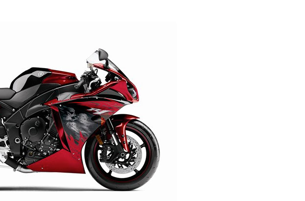 2011 Yamaha YZF R1   Now With Skulls 2011 Yamaha YZF R1 skulls red