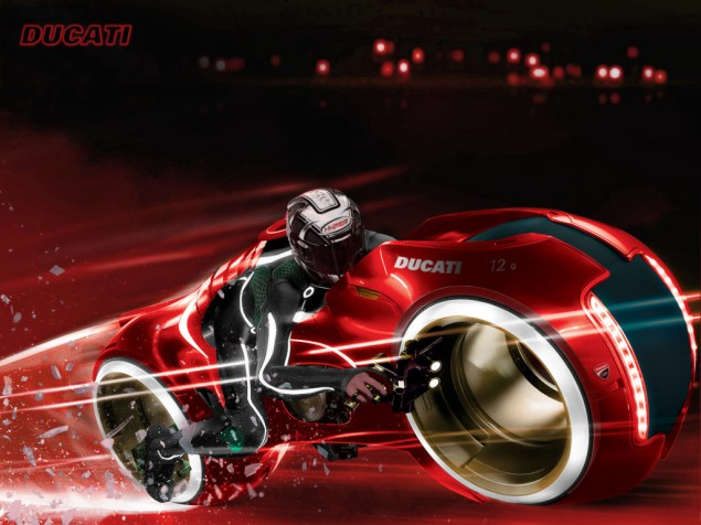 Fun with Photoshop: Ducati Tron Lightcycle Ducati Tron lightcycle bike 635x476