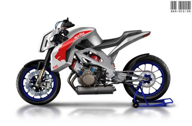 Aprilia 5.5 Street by Luca Bar Design Aprilia Street 550 Luca Bar Design concept 635x417