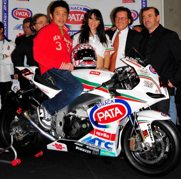 WSBK: PATA Racing & Haga Show Off 2011 Livery Noriyuki Haga PATA Aprilia Verona 635x629