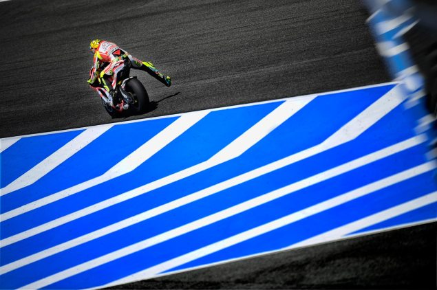MotoGP: The Spanish GP Could Get Interesting   Valentino Rossi Second Fastest in Warm Up as Rain Hits Jerez Valentino Rossi Jerez Spanish GP 635x422