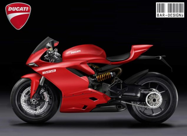 2012 Ducati Superbike 1199 Rendered by Luca Bar Design 2012 Ducati Superbike 1199 Luca Bar Design 1 635x461