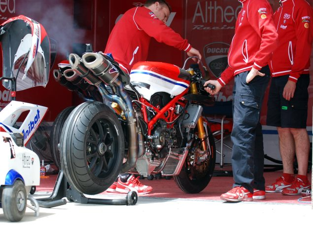 Miller Motorsports Park by Jensen Beeler Althea Ducati motor break in 635x456