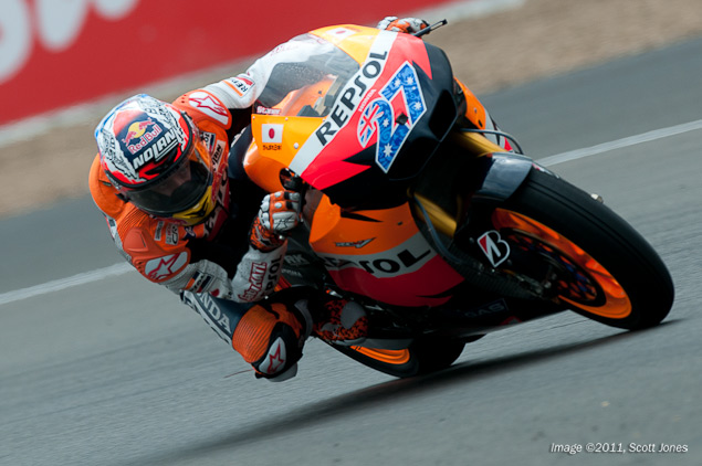 MotoGP: Lap Record Smashed in Qualifying at Silverstone Casey Stoner MotoGP Silverstone Scott Jones