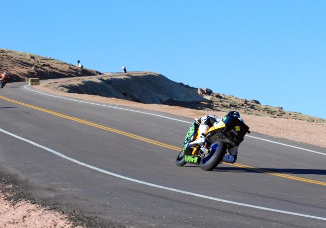 PPIHC: Chip Yates Races the Most Powerful Motorcycle Ever on Pikes Peak   Sets New Record for Electric Motorcycles Chip Yates Pikes Peak International Hill Climb 3 635x444