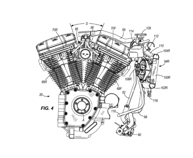 There Are No Sacred Cows: Harley Davidson Patents Cylinder Head Cooling System Harley Davison water cooled cylinder patent 1 635x520