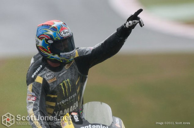 Photo of the Week: Unbreakable Photo of the Week Colin Edwards Silverstone podium 635x421