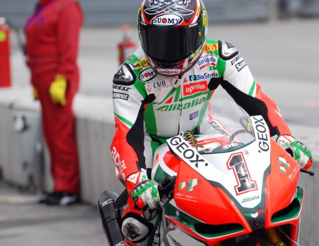 WSBK: Race 2 at Aragon Brings First Win of 2011 biaggi close up 635x4891