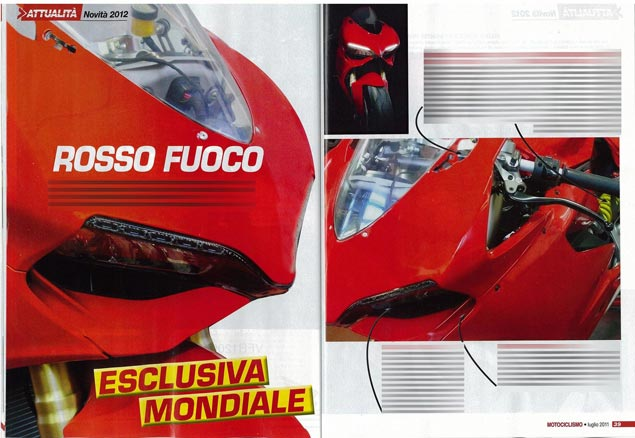 First Shots: 2012 Ducati Superbike 1199 2012 Ducati Superbike 1199 Motociclismo photo leak 2