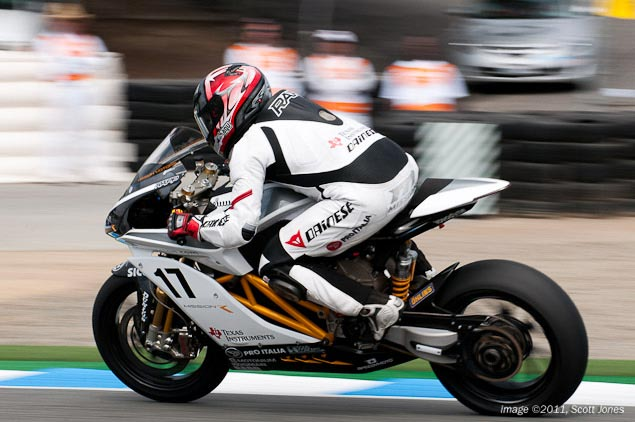 The Rappture Comes to Laguna Seca   Mission Motors Wins Electric Bike Showdown Steve Rapp Laguna Seca race win