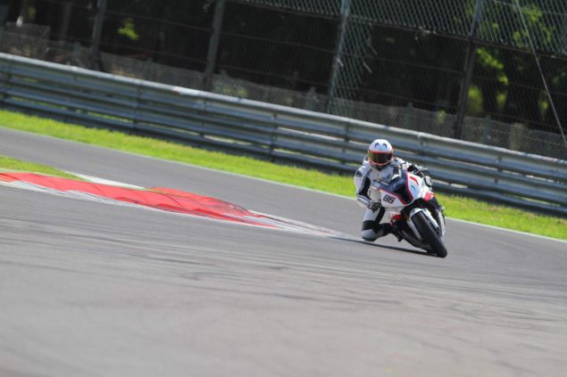 Ride Review: Riding the BMW S1000RR Superstock, Satellite Superbike, and Factory World Superbikes BMW S1000RR test Monza Badovini Superbike 4 635x423