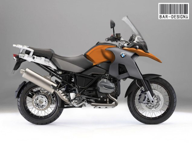 Rendered: 2012 BMW R1200GS 2012 BMW R1200GS water cooled render orange 635x476