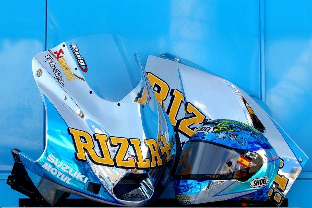 Photos: Rizla Suzuki Micron Livery from Misano Rizla Suzuki Micron livery 2 635x423