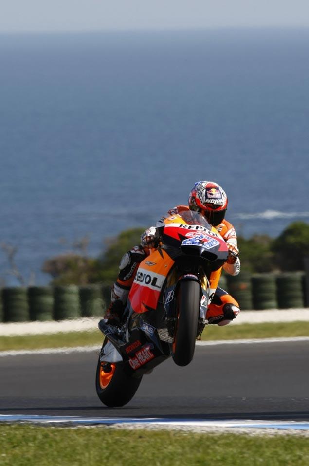 MotoGP: Nail Biter at the Australian GP Casey Stoner Repsol Honda MotoGP Phillip Island