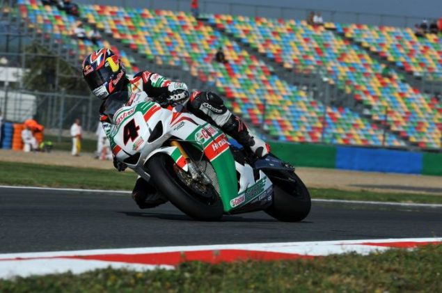 WSBK: Superpole Sessions at Magny Cours Nearly Prove Costly to Championship Leader rea pirelli mc 635x421