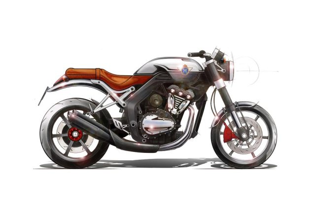 Horex VR6 Gets 161hp & Dry Graphite Chain Lubrication horex vr6 concept drawing 635x444
