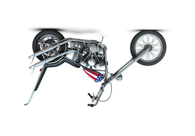 Indiana Considering Selling Motorcycles on Sundays Captain America Harely Davidson chopper upside down 635x444