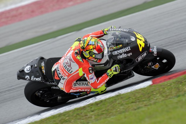 MotoGP: Test Results & Photos from Day 1 at Sepang Ducati Corse Sepang Test Valentino Rossi 03 635x423