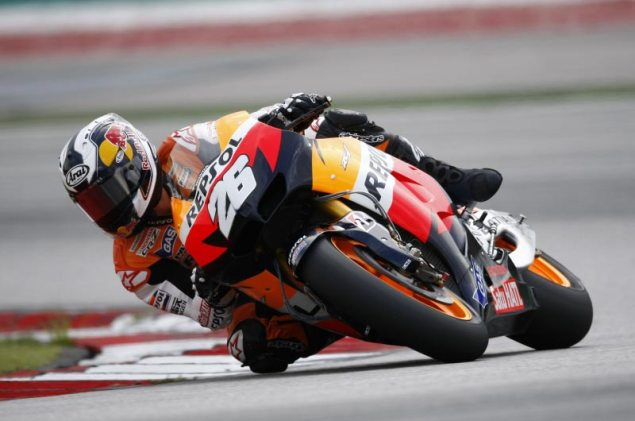 MotoGP: Test Results & Photos from Day 1 at Sepang Repsol Honda Sepang Test Dani Pedrosa 2 635x421