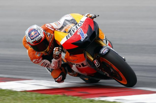 MotoGP: Test Results & Photos from Day 3 at Sepang HRC Sepang Day 3 Casey Stoner 2 635x421