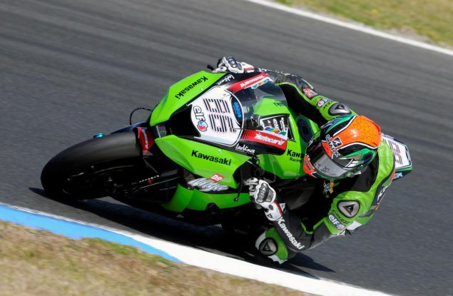WSBK: Sykes Fastest at Phillip Island Official Testing tom sykes wsbk kawasaki phillip island 635x415