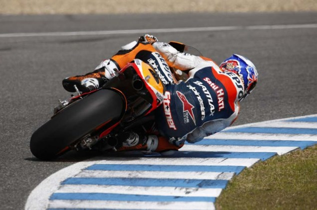 MotoGP: Testing at Jerez Provides Few Surprises HRC Jerez MotoGP test 2012 10 635x421